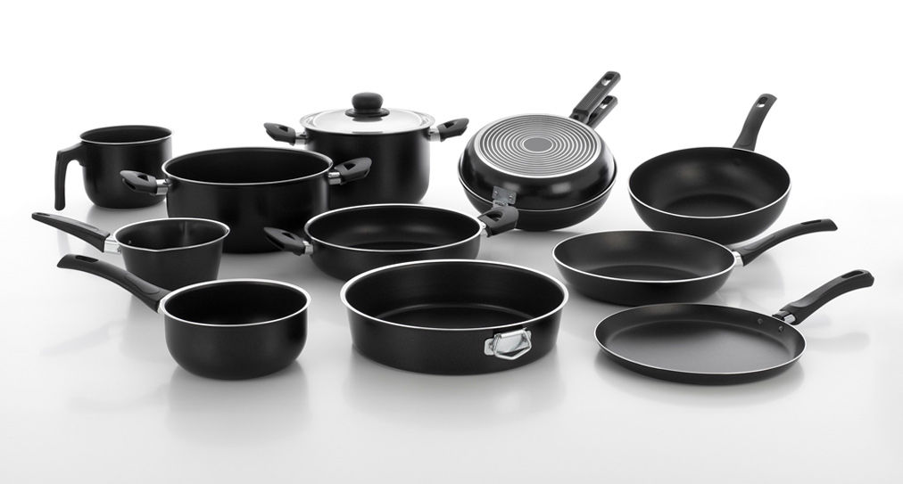 Classic cookware line with traditional style non stick pans and pots