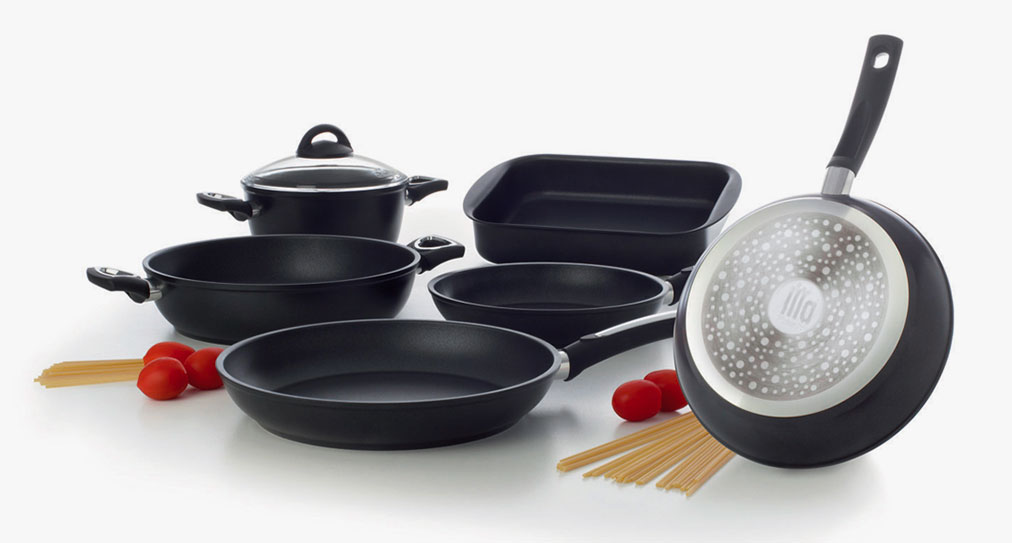Non-stick pans and pots of the Misterchef Cookware line