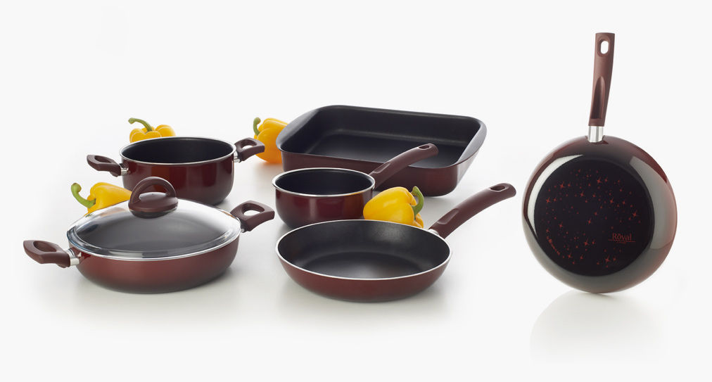 Royal Cookware line with non-stick Teflon pans and pots